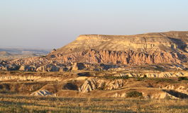 Felsenberg in Cappadocia Stockfoto