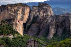 Felsenberglandschaft Meteora Griechenland Lizenzfreie Stockfotografie
