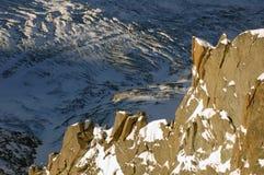 Felsenfeld von Mont Blanc Stockbilder