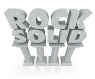 Felsenfeste Wort-Steinmarmorsäule-Säulen-Stabilität zuverlässig Lizenzfreie Stockfotos