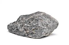 Felsenflußstein auf Weiß Stockfotos
