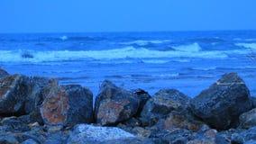 Felsengraben vor dem Mittelmeer stock video