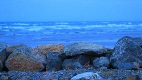 Felsengraben vor dem Mittelmeer stock video footage