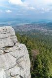 Felsenhügel in Gory Stolowe, Polen Stockfotografie