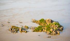 Felseninsel im Mekong Lizenzfreies Stockbild