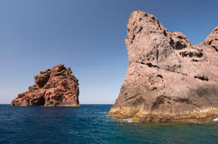 Felseninseln des Naturparks Scandola lizenzfreie stockbilder