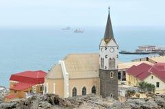 Felsenkirche en Luderitz, Namibia Fotos de archivo libres de regalías