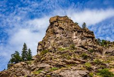Felsenobere wilde Westseite von Colorado stockfotografie
