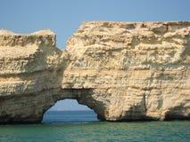 Felsenstruktur in Oman Stockfotografie