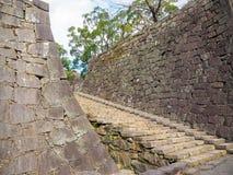 Felsenwand und -treppe Lizenzfreies Stockbild