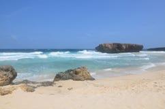 Felsformation auf Boca Keto auf der Insel von Aruba Lizenzfreie Stockfotografie