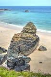 Felsformation auf der Cornwall-Küste lizenzfreie stockbilder