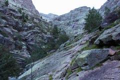 Felsformation auf Wanderweg, Corse, Frankreich Lizenzfreies Stockfoto