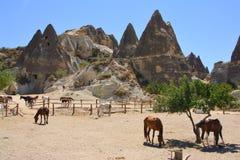 Felsformation in Cappadocia Stockfoto