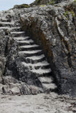 Felsformation mit Steinschritten Stockfoto