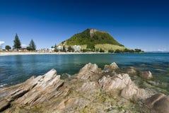 Berg Maunganui Strand, Neuseeland Lizenzfreies Stockbild