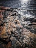 Felsformationen an der georgischen Bucht Stockbilder