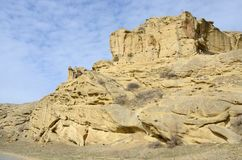 Felsformationen an der Uplistsikhe-Höhlenstadt, Georgia Lizenzfreie Stockbilder