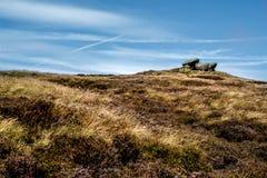 Felsformationen am Hoffnungs-Tal im Höchstbezirks-Nationalpark, Derbyshire Lizenzfreie Stockfotografie