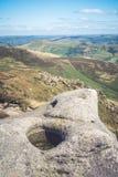 Felsformationen am Hoffnungs-Tal im Höchstbezirks-Nationalpark, Derbyshire Stockfotos