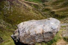 Felsformationen am Hoffnungs-Tal im Höchstbezirks-Nationalpark, Derbyshire Lizenzfreies Stockfoto