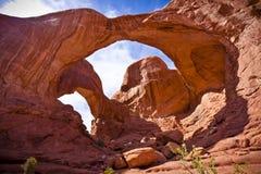 Felsformationen im Bogen-Nationalpark Stockbild
