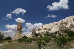 Felsformationen im Klingen-Tal, Cappadocia Lizenzfreies Stockbild