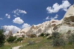 Felsformationen im Klingen-Tal, Cappadocia Stockfotos