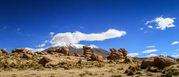 Felsformationen nahe Laguna Honda, Altiplano, Bolivien Lizenzfreie Stockfotografie