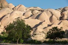 Felsformationen in Nationalpark Goreme Cappadocia Stockbilder