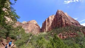 Felsformationen und Landschaft bei Zion National Park Lizenzfreies Stockfoto
