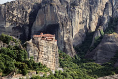 Felsformationslandschaft Meteora Griechenland Lizenzfreie Stockfotografie