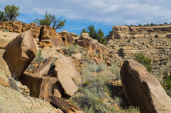 Felsige Aussicht im Wüstensüdwesten Lizenzfreies Stockfoto