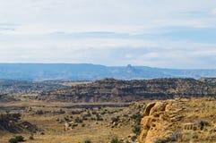 Felsige Aussicht im Wüstensüdwesten Stockbilder