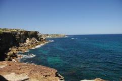 Felsige australische Küstenlinie Stockbilder
