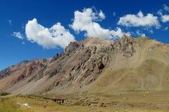 Felsige Berge Anden nahe Mendoza und Aconcagua Stockfoto
