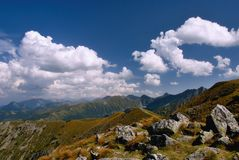 Felsige Berge, West-Tatra, Slowakei Stockbilder