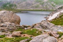 Felsige Berglandschaft mt Evans Colorado Stockfotos