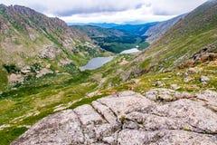 Felsige Berglandschaft mt Evans Colorado Stockfoto