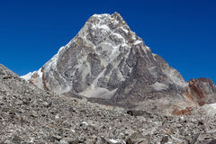 Felsige Bergspitze in Nationalpark Sagarmatha Stockfotos