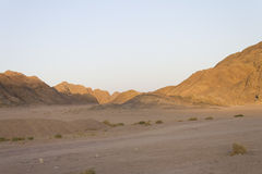 Felsige Hügel der Wüste in Hurghada stockbilder
