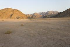 Felsige Hügel der Wüste in Hurghada Lizenzfreie Stockfotos