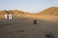 Felsige Hügel der Wüste in Hurghada Lizenzfreie Stockfotografie