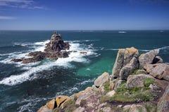 Felsige Inseln weg vom Land's End Stockfotografie