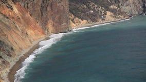 Felsige Küste stock footage
