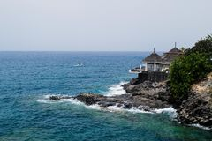 Felsige Küste in Costa Adeje, Teneriffa, Kanarische Inseln Stockfotografie