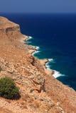 Felsige Küste in Kreta Stockbild
