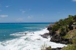 Felsige Küste von Insel der Costa Adeje Teneriffa-Insel, Canaries, Spanien Stockfotos