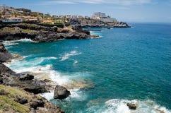 Felsige Küste von Insel der Costa Adeje Teneriffa-Insel, Canaries, Spanien Lizenzfreie Stockfotos