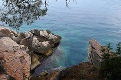 Felsige Küste von Montenegro Lizenzfreies Stockbild